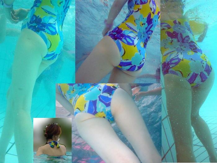 【水面下エロ画像】水面下での水着の女の子達の姿が想像以上にエロッ! 34