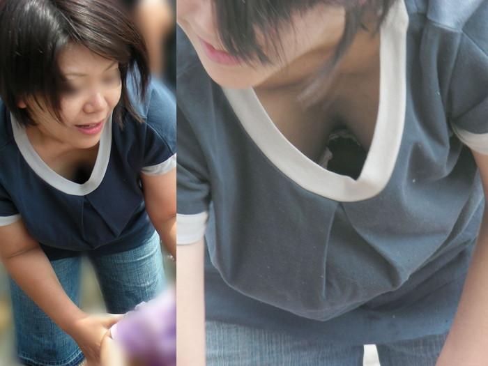 【胸チラエロ画像】街中で偶然見かけたハプニングシーン!胸チラ! 08