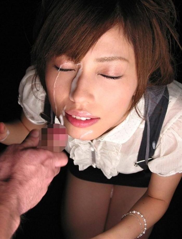 【顔射エロ画像】美しい顔でドロッドロのザーメンを受け止める破廉恥美少女! 20