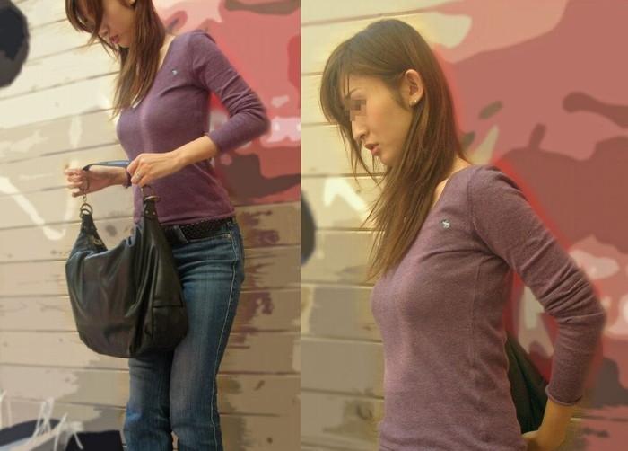 【着衣おっぱいエロ画像】着衣の上から見るおっぱいにも、とんだエロスが隠れてる! 06