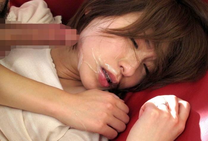 【顔射エロ画像】美しい顔が顔射でドロッドロの精液まみれ!エロすぎだろ!? 05
