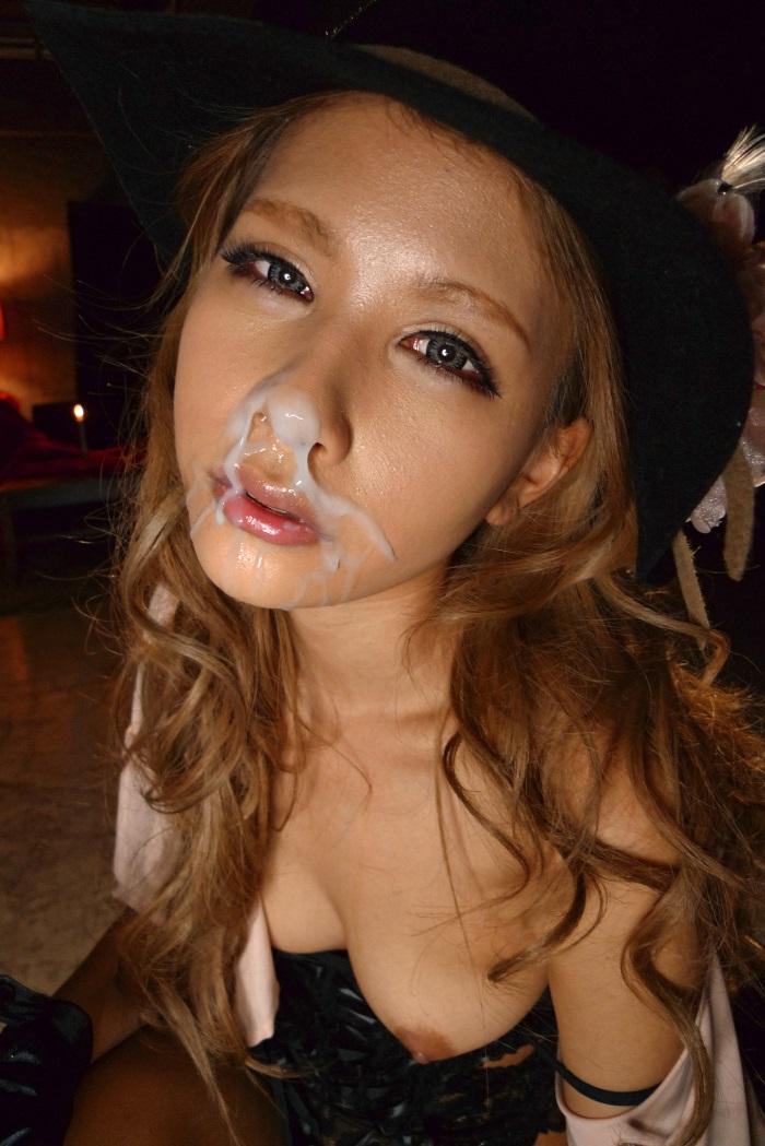 【顔射エロ画像】美しい顔が顔射でドロッドロの精液まみれ!エロすぎだろ!? 24