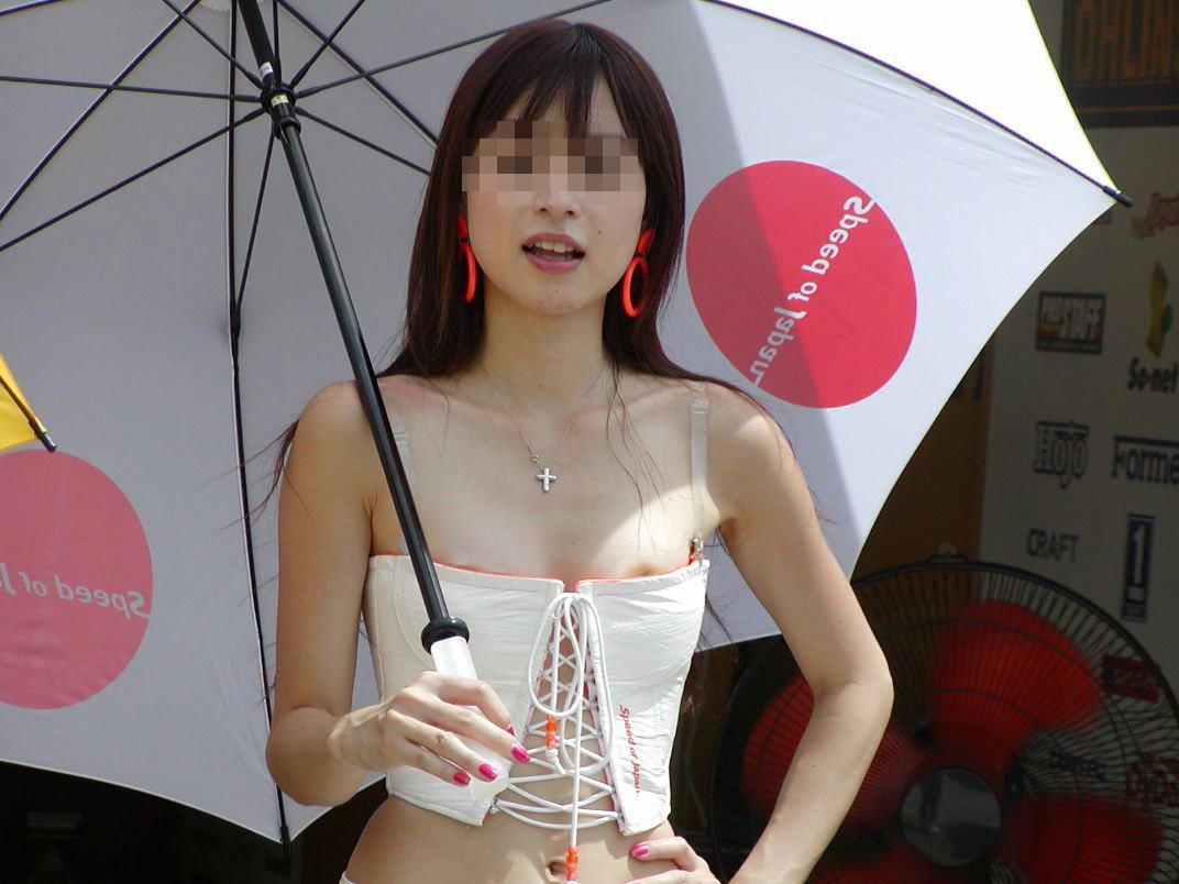 【キャンギャルエロ画像】過激衣装ならば!当然エロハプニングがついてくる!w
