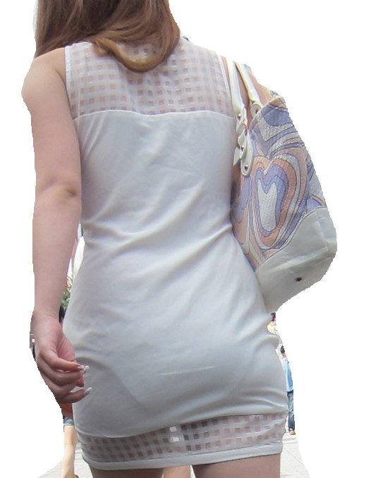 【着衣透けパンエロ画像】着衣越しに透けたパンツがハッキリと…新たな露出プレイか!?w 02