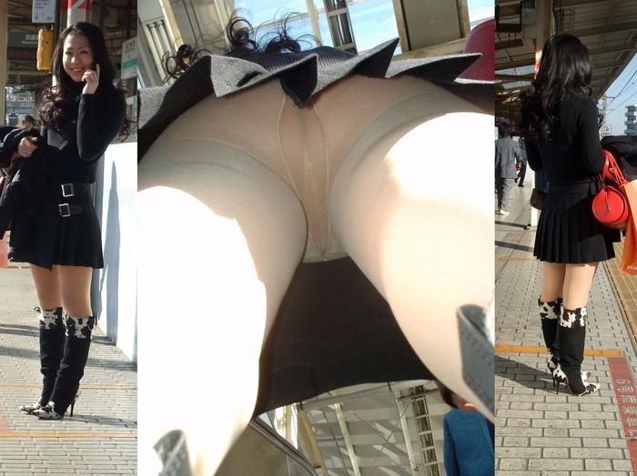 【ノーパン逆さ撮りエロ画像】とんだラッキーハプニング!まさかのノーパン!! 27
