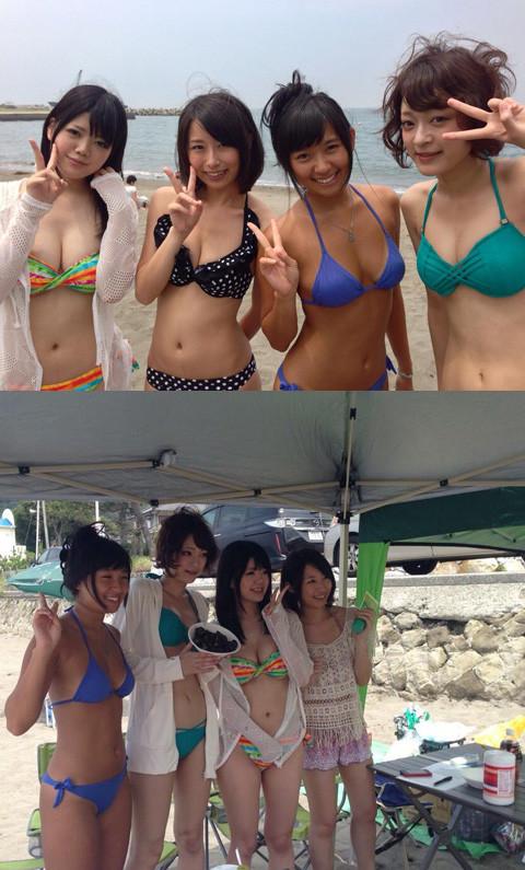 【ビキニエロ画像】夏のビーチ!プールでの水着ギャルってぶっちゃけエロくね! 19