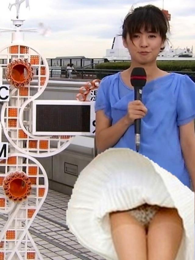 【放送事故エロ画像】まさかの放送事故!うっかり電波にのってしまったパンチラ等々… 12